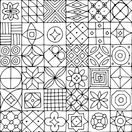 ceramic tiles: Abstract geometric seamless pattern for your design Illustration