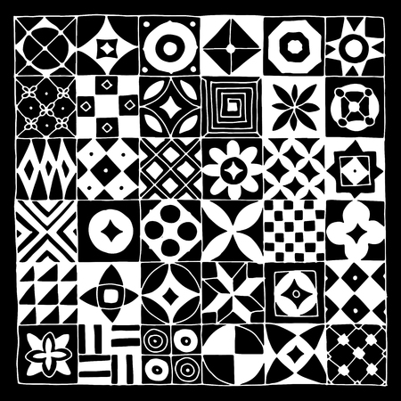 Abstract geometric pattern for your design Çizim