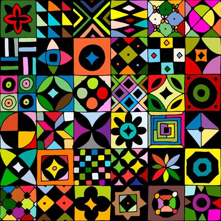 Motif géométrique abstraite géométrique pour votre conception