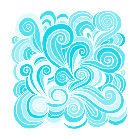 Abstract hand drawn ornament, background for your design