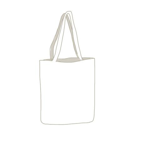 Linen shopping bag, sketch for your design
