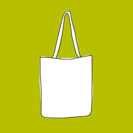 Linnen boodschappentas, schets voor uw ontwerp Stock Illustratie