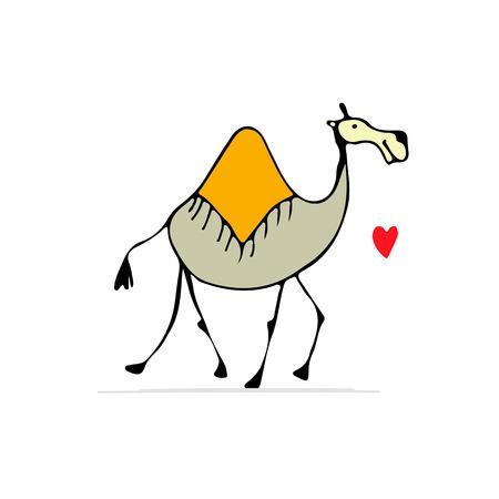 낙타, 디자인 스케치