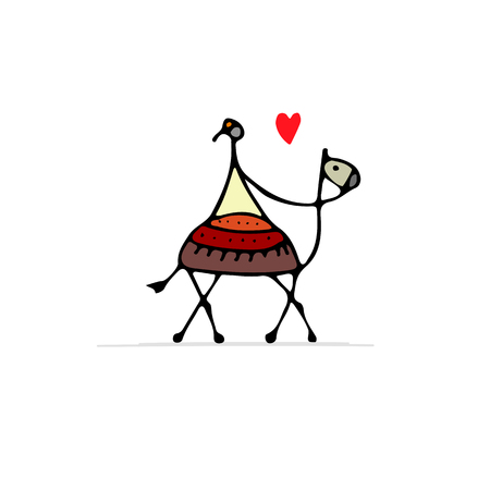 Sketch of a camel for your design