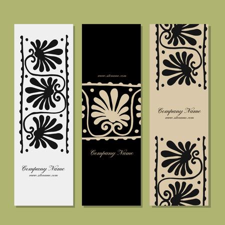 texture: Ethnic floral ornament banner design