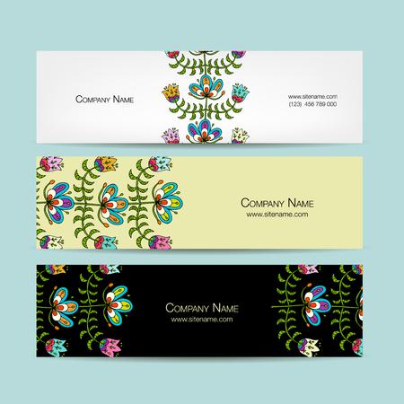 バナー広告デザイン、民謡風の花の背景 写真素材 - 82974075