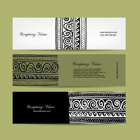 tibet: Banners design, ethnic handmade ornament. Vector illustration Illustration