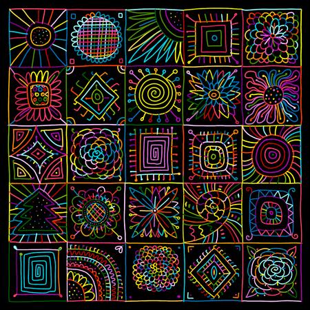 あなたの設計のための抽象的な幾何学模様。ベクトル図