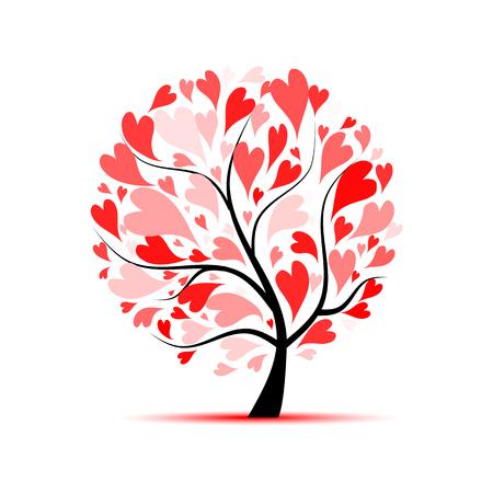 디자인을위한 사랑 나무 일러스트