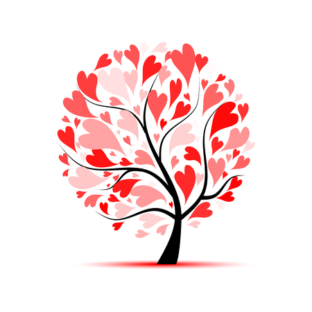 Love tree for your design 版權商用圖片 - 83949242