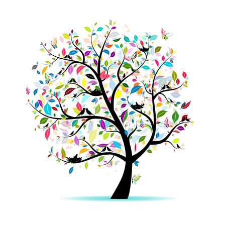 Spring Tree para o seu design Foto de archivo - 83949241