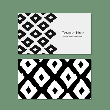 frame: Business cards design, geometric fabric pattern Illustration