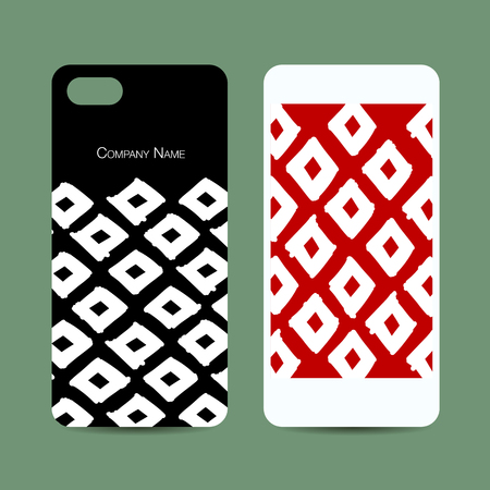 Mobile phone design, geometric fabric pattern Illustration