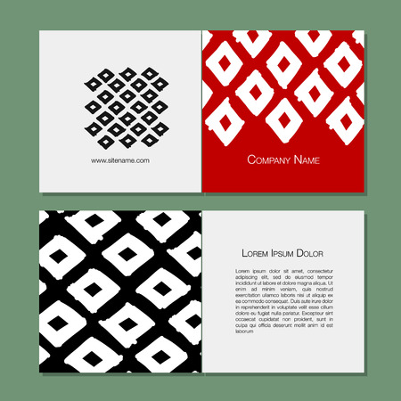Greeting cards design, geometric fabric pattern