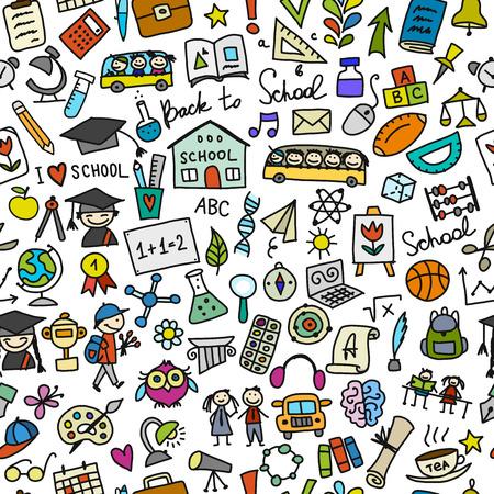 Back to school, seamless pattern for your design Vektorové ilustrace