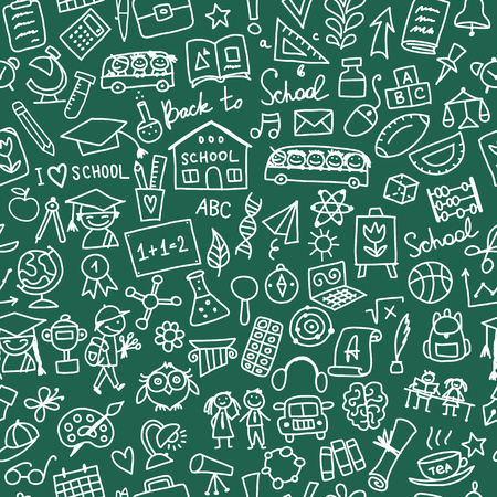 mathematics: Back to school, seamless pattern for your design