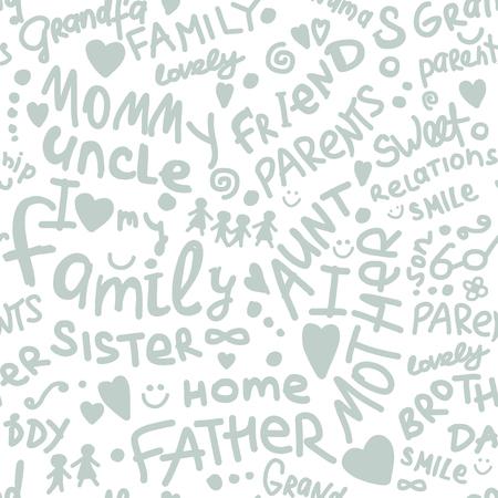 Famiglia. modello senza cuciture per il vostro disegno Vettoriali