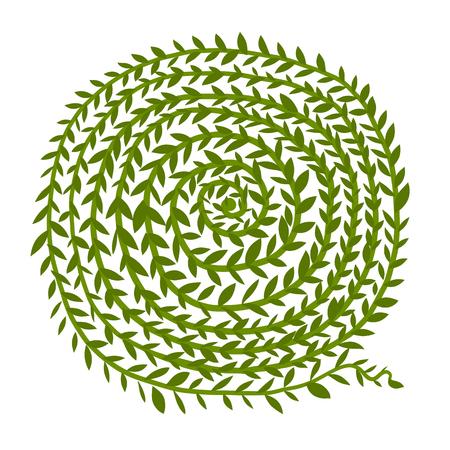 Leaf Spiralverzierung, Hand gezeichnete Skizze für Ihr Design