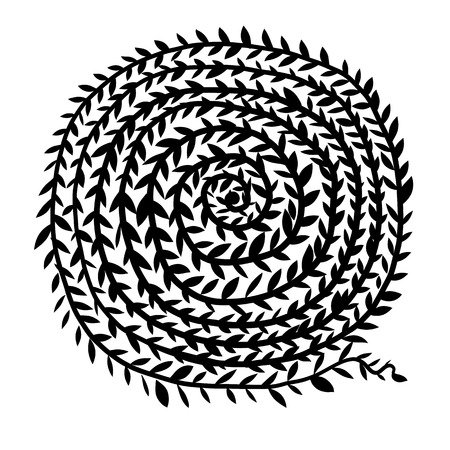 Spiral ornament, hand drawn sketch for your design