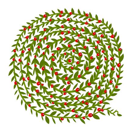 Leaf spiral ornament, hand drawn sketch for your design