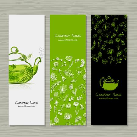 Banners ontwerp, kruidenthee