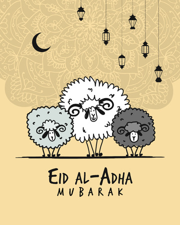 Muslim holiday Eid al-Adha, card for your design