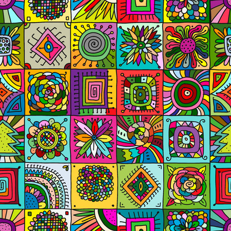 Abstract geometric seamless pattern for your design. Illustration