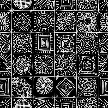Abstract geometric seamless pattern for your design. Illusztráció
