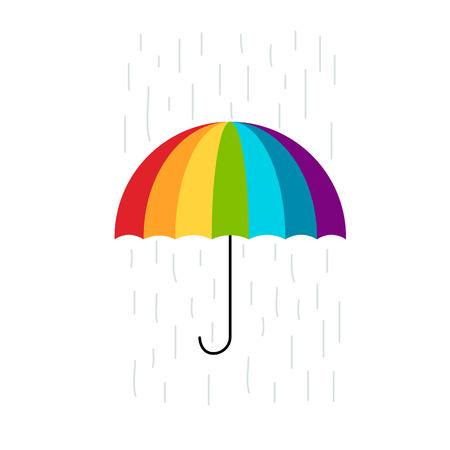rainy season: Colorful umbrella for your design. Illustration