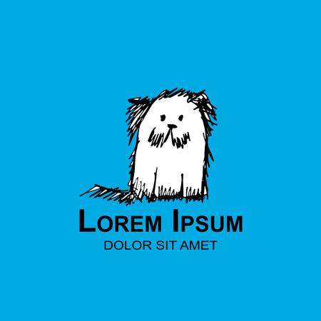 Dog emblem for your design