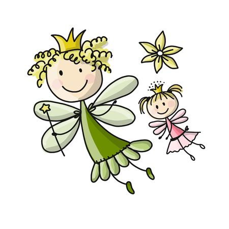 Cute fairies Ilustrace
