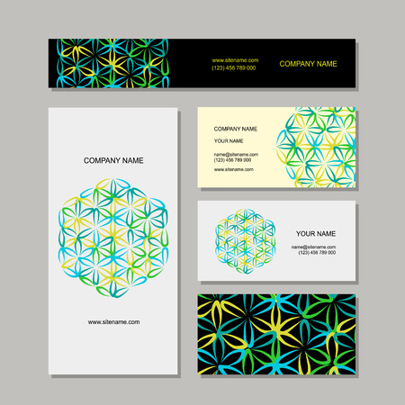 Business cards design, flower of life