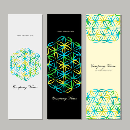 Banners design, flower of life Çizim