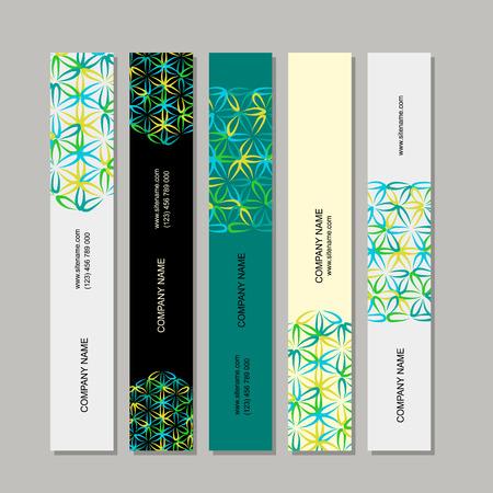Banners design, flower of life Illustration