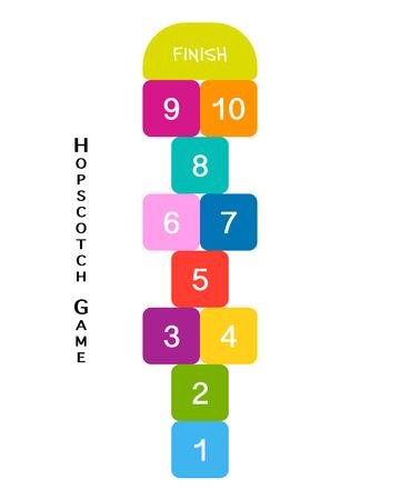 Hopscotch game for your design Stock fotó - 87266507