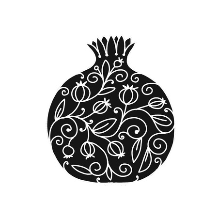 Pomegranate ornate, sketch for your design