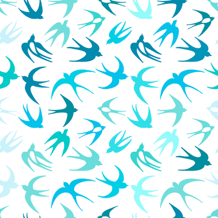 Swallows, seamless pattern for your design