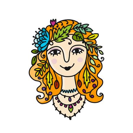 Summer girl, sketch for your design