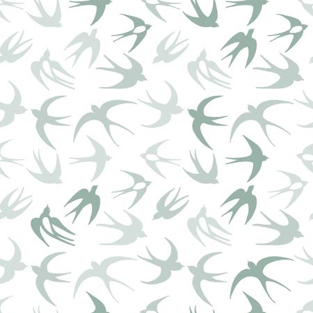 Zwaluwen, naadloos patroon voor uw ontwerp Stock Illustratie