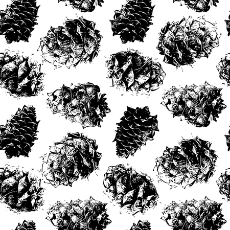 Cedar cones, seamless pattern for your design