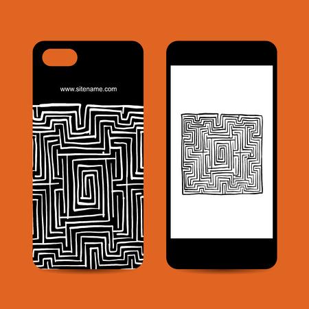 휴대 전화 설계, 미로 사각형
