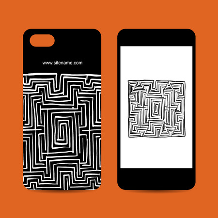 Mobile phone design, labyrinth square