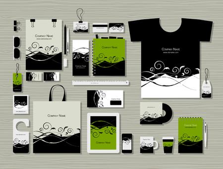 회사 평면 모형 템플릿, 플로랄 디자인 스톡 콘텐츠 - 88847799