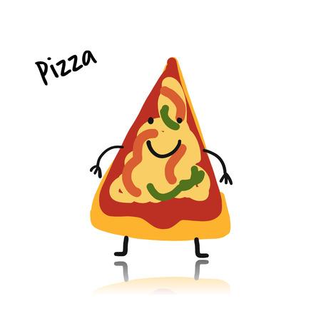 Pizza slice icon.