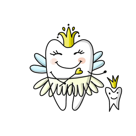 Tooth fairy, sketch for your design Imagens - 89041512