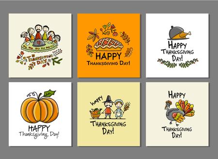 Thanksgiving day, kunstkaarten voor jouw ontwerp.