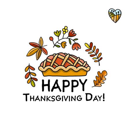 Giorno del Ringraziamento, disegno di pie per il tuo disegno Archivio Fotografico - 89471096