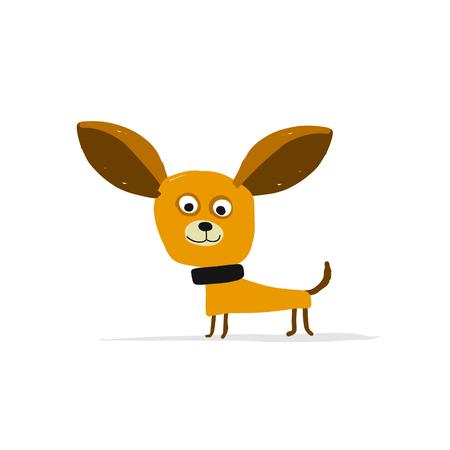Funny dog sketch design.