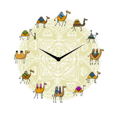 낙타 디자인 시계