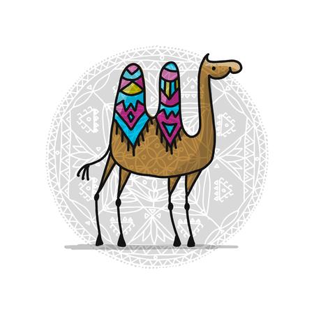 Camello, dibujo para su diseño Foto de archivo - 90369263